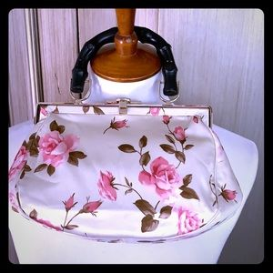 Satin rose small satchel by Banana Rebublic